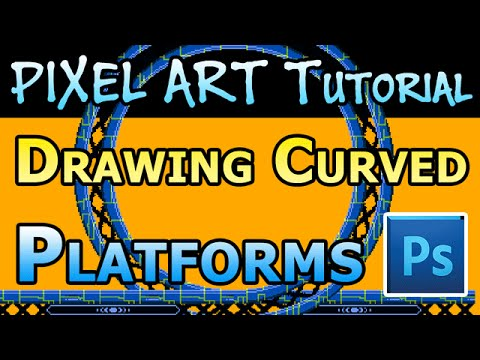 Pixel Art Tutorial - Curved Metal Platforms in Photoshop