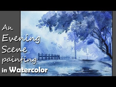 How to Paint An Beautiful Evening Scene in Watercolor