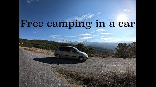 Free camping in the stunning Sierra Nevada mountains