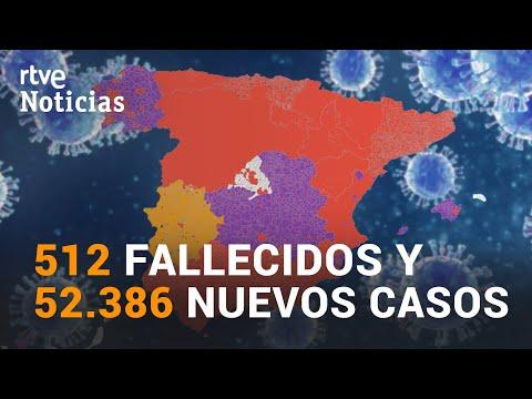 DATOS de CORONAVIRUS en ESPAÑA hoy, se registra el RÉCORD de muertes tras un fin de semana I RTVE