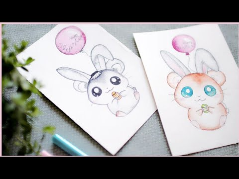 Paint With Me Live! Painting with Crayola Markers! No Watercolors Needed! Cute Greeting Card