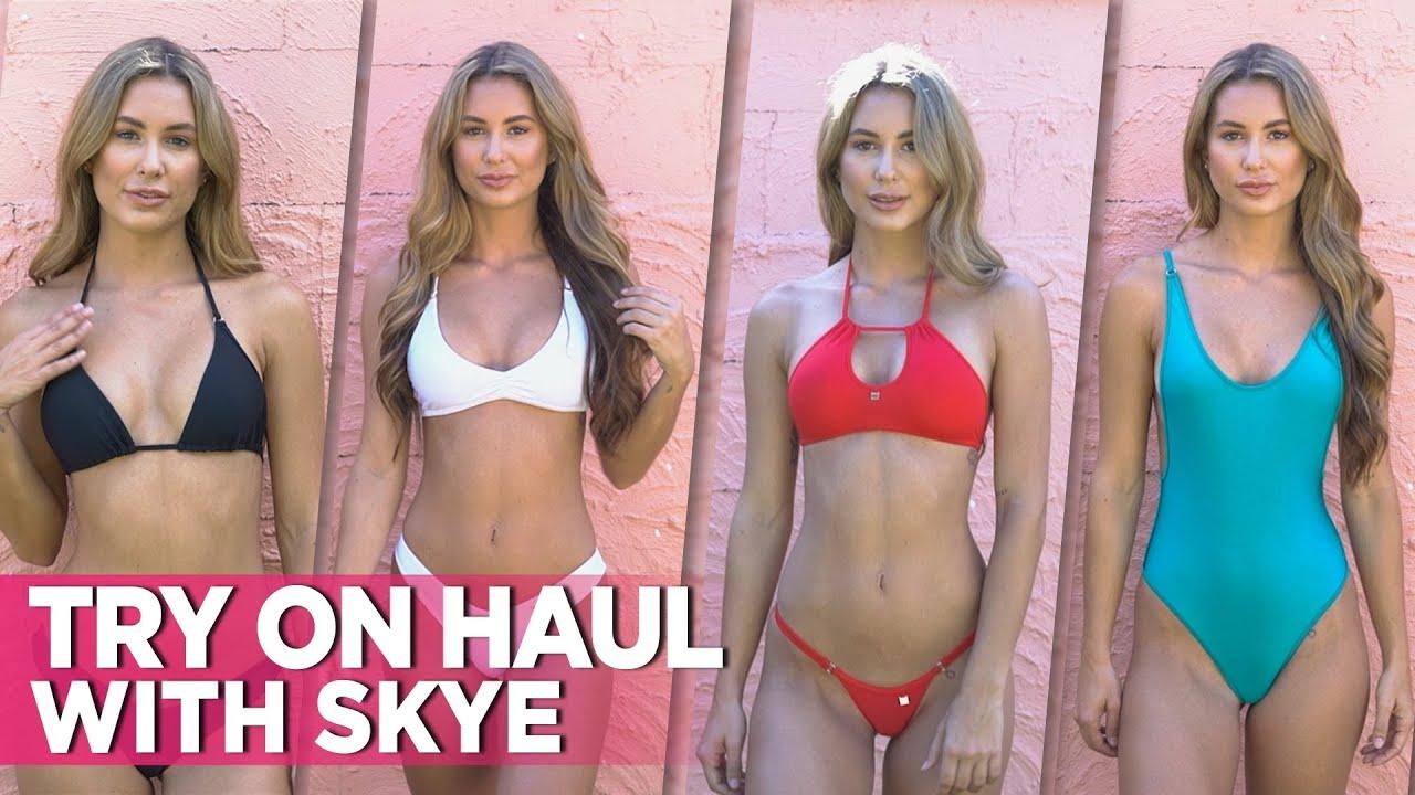 Hot Bikini Try On Haul Video With Sexy Skye! Feat. Wicked Weasel Matt Lycra Bikinis