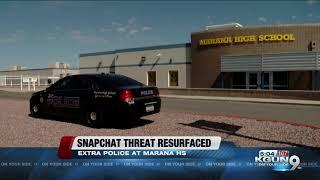 Police step up presence at Marana HS after Snapchat threat resurfaces