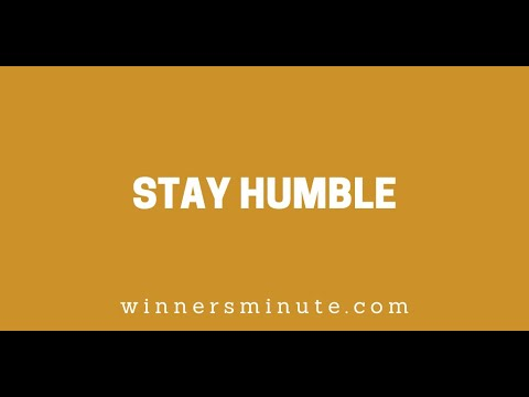 Stay Humble // The Winner's Minute With Mac Hammond