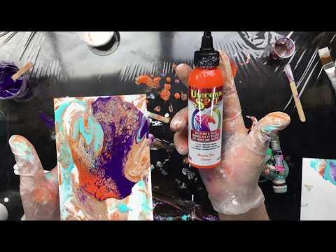 ( 632 ) Acrylic pouring Unicorn spit