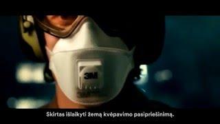 3M™ Aura™ respiratoriai. Mažesnis pasipriešinimas kvėpuojant