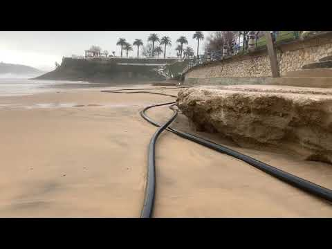 Así está dejando el sardinero el último temporal que estamos sufriendo... Se ha llevado mucha arena