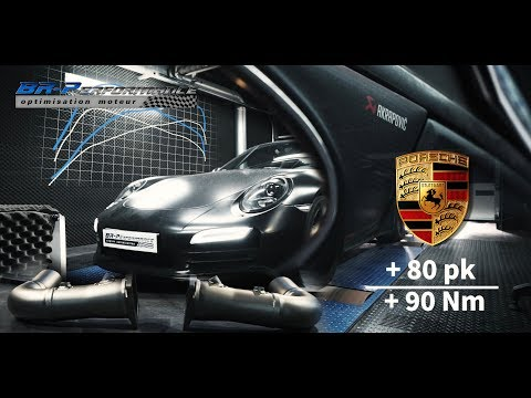 Porsche 911 991.1 3.8DFi Turbo Akrapovic exhaust installation & Stage 1 remap by BR-Performance