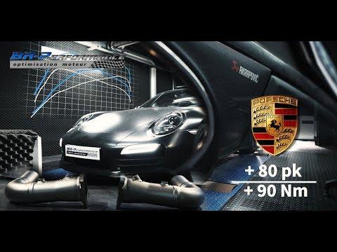 Porsche 911 991.1 3.8DFi Turbo Akrapovic exhaust installation & Stage 1 remap by BR-Performance