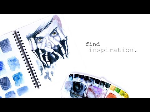 What to Draw When You Don't Know What to Draw || Watercolor Portrait Speed Painting