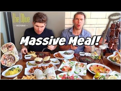 MASSIVE MEDITERRANEAN FOOD CHALLENGE / REVIEW | Eating The Whole Menu! | Los Angeles California> </a> <div style=