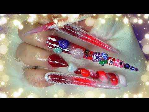 THE COMPLETE SET OF MY CRAZY CHRISTMAS NAILS! ~ SPIRAL SANTA HAT | PART 2 | ABSOLUTE NAILS