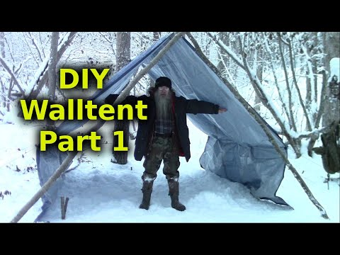 Make A Comfortable Inexpensive Semi Permanent Shelter - Part 1