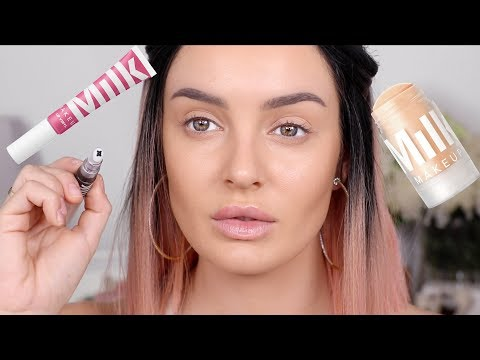 My 1st Time... with MILK MAKEUP! Chatty Makeup GRWM \ Chloe Morello