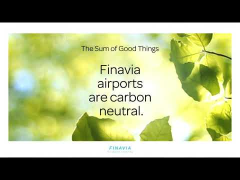 Did you know that the electricity used at Finavia airports is 100 percent renewable? We set the bar high in our environmental work and we pay attention to detail. These details add up to The Sum of Good Things.