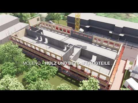 Systembau MOLENO – modulare Holz-Hybridbauweise
