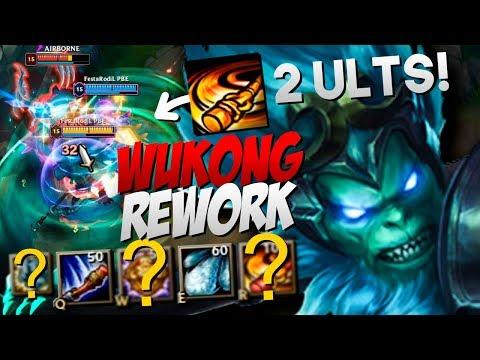 WUKONG REWORK GAMEPLAY! 2 ULTS, CLONE QUE BATE E MAIS DE 20 KILLS!   LEAGUE OF LEGENDS