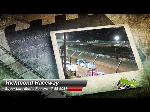 Richmond Raceway - Super Late Model Feature - 7/25/2021 - dirt track racing video image