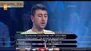 Kim milyoner olmak ister 202. bölüm Serhat Tahtacı 08.04.2013