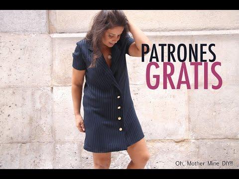 Costura vestido tipo blazer para mujer (patrones gratis)
