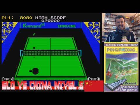 SLOBULUS vs TEAM CHINA - El duelo definitivo en Ping Pong (Spectrum) Máxima dificultad