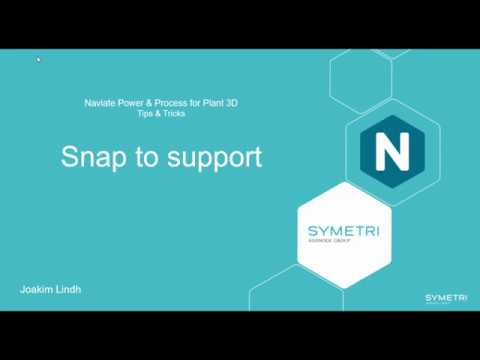 Plant 3D Naviate Snap To Support