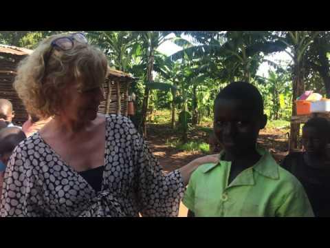 Möte med fadderbarnet Sarah, Uganda maj 2016
