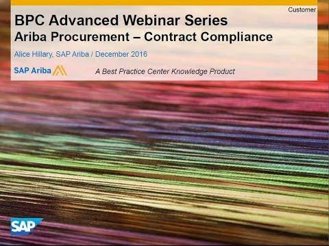 Ariba Contract Compliance UpstreamDownstream Focus
