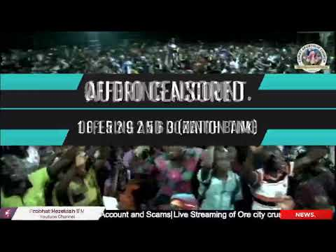 Live Streaming of Ore city crusade  Theme: Jesus The Great Physician John 9:5(Jesu Onisegun Nla)