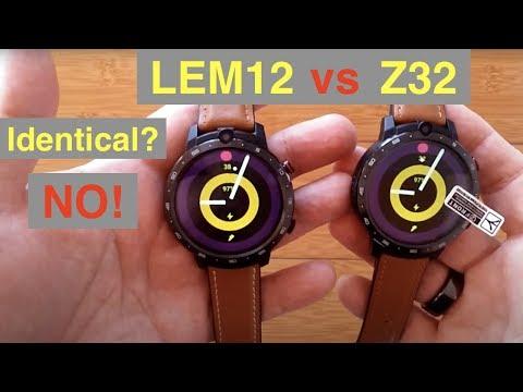 LEMFO LEM12 vs OUKITEL Z32 Dual Camera 3GB/32GB Smartwatches & 900 mAh Power Banks: Identical? No!
