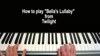 Bella S Lullaby Piano Tutorial Carter Burwell Twilight Youtube