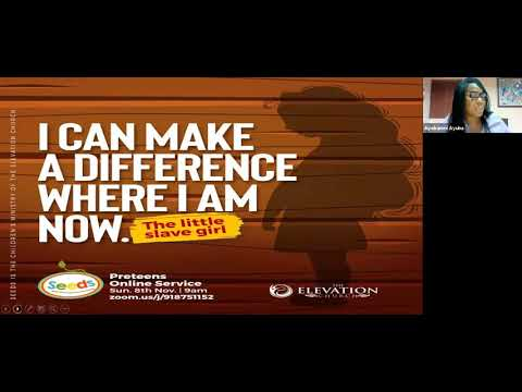 I can make a difference where I am  The Elevation Church Pre-teens Service (8th, Nov., 2020)