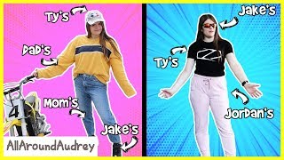 Wearing My Parents and Siblings Clothes (FOR A WEEK) Prank / AllAroundAudrey
