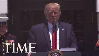 President Trump Defends Racist Tweet About Congresswomen | TIME