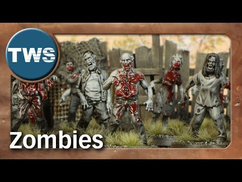 Bemalung: Zombies / How to paint zombies from The Walking Dead (Tabletop-Miniaturen, TWS)