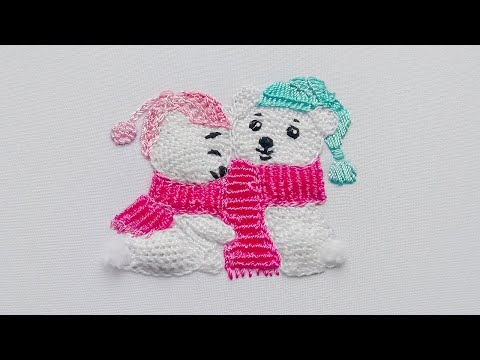 3D Embroidery | Sweet couple| Buttonhole Filling