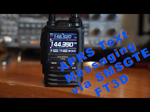 How to APRS text message  using SMSGTE with a FT3D.