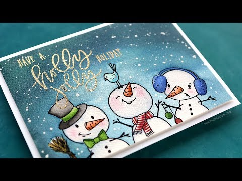 Holiday Card Series 2018 - Day 14 - Snow Buddies