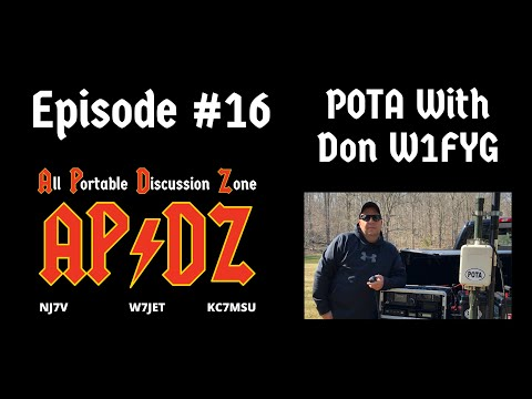Episode #16 - Parks on the Air with Don W1FYG