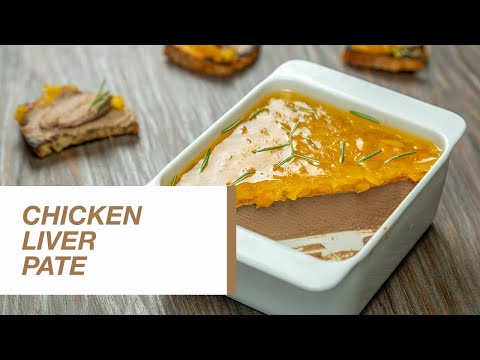 Chicken Liver Pate with Apricot and wine Gelee   Food Channel L Recipes