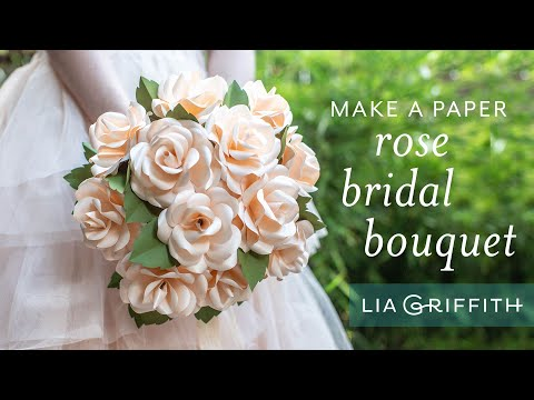How to Make a Bridal Rose Bouquet with Frosted Paper