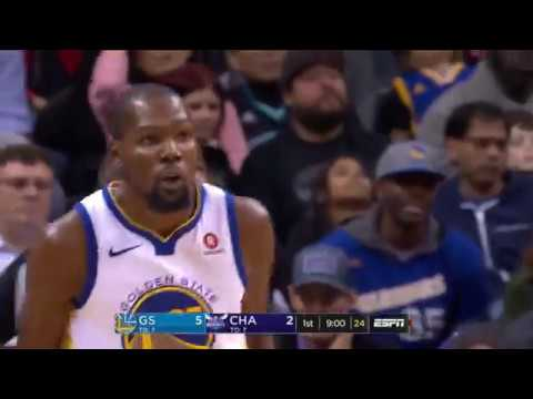 Kevin Durant Notches Triple-Double in Warriors' Win over Hornets