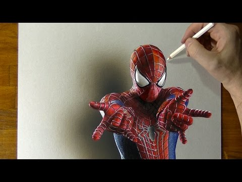 Amazing Spider-Man Drawing - How to draw 3D Art - UCcBnT6LsxANZjUWqpjR8Jpw