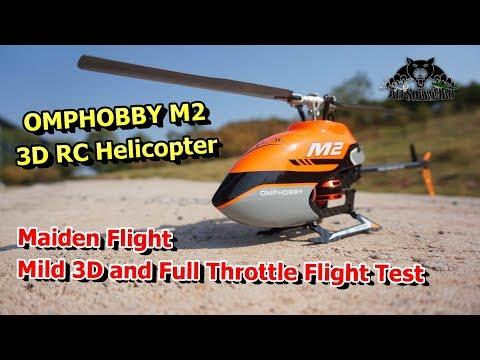 OMPHOBBY M2 Dual Brushless Motor Direct Drive 3D RC Helicopter Maiden Flight Test - UCsFctXdFnbeoKpLefdEloEQ