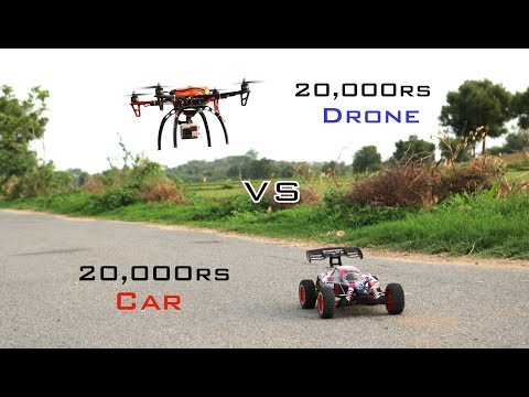 Car VS Drone Race | 80km/hr | Remo Hobby Buggy Scorpio Car | Indian LifeHacker - UC2kZs1f6gVXgxjwfVeoXD9g