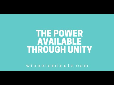 The Power Available Through Unity // The Winner's Minute With Mac Hammond