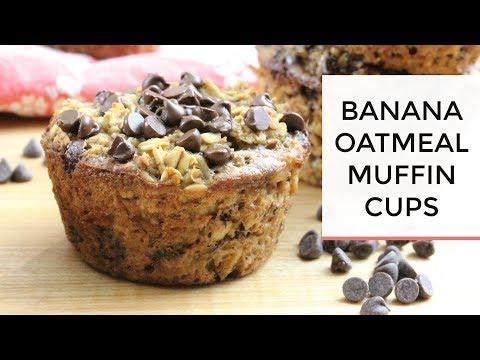 Baked Banana Oatmeal Muffin Cups | Healthy + Easy Grab-N-Go Breakfast
