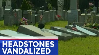 Dozens of headstones knocked over, property damaged at NY cemetery