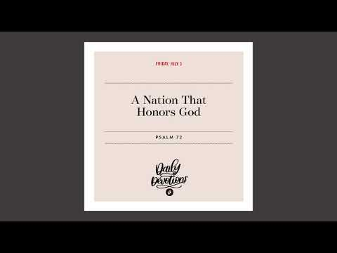 A Nation That Honors God  Daily Devotional