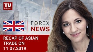 11.07.2019: Powell's comments boost risk appetite, USD declines (USDX, JPY, AUD)